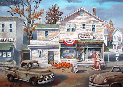 Painting - Country Store by Tony Caviston