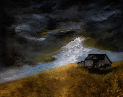 Painting - Country Storm Arrival by Dick Bourgault