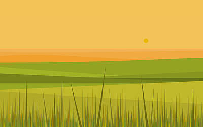 Digital Art - Country Sunrise by Val Arie