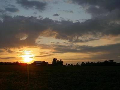 Photograph - Country Sunset by Carolyn Jacob