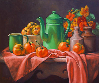 Homedecor Painting - Country Table by Fiona Craig