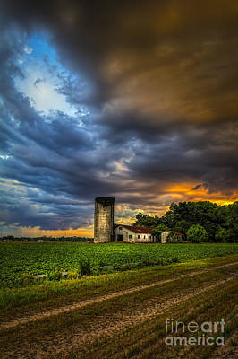 Silo Photograph - Country Tempest by Marvin Spates
