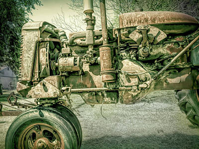 Photograph - Country Time Memories Antique Tractor by Ann Powell