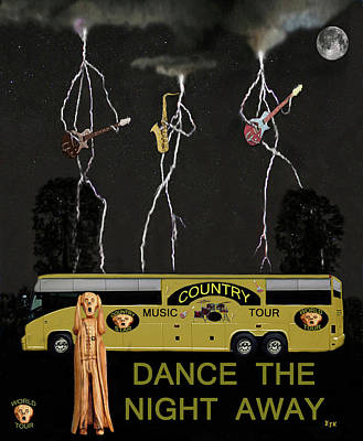 Country Dance Mixed Media - Country Tour Dance The Night Away by Eric Kempson