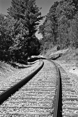 Country Tracks Black And White Art Print by Mark Dodd