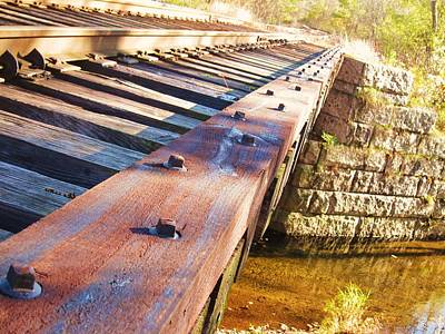 Unschooling Photograph - Country Train Trestle by Joe  Martin