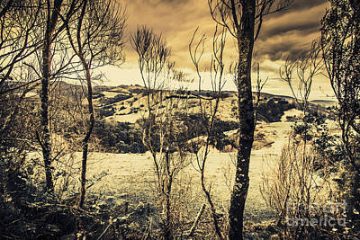 Great Mysteries Photograph - Country Victoria Winter Scene by Jorgo Photography - Wall Art Gallery