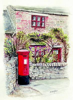 Painting - Country Village Post Box by Morgan Fitzsimons