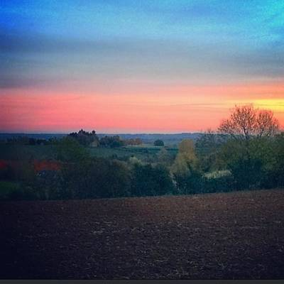 Warwickshire Wall Art - Photograph - Country Walk At Dusk #family #country by Jess Hawley