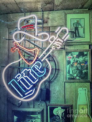 Photograph - Country Western Neon by Jenny Revitz Soper