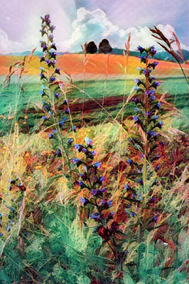 Photograph - Country Wildflowers Painting by Debra and Dave Vanderlaan