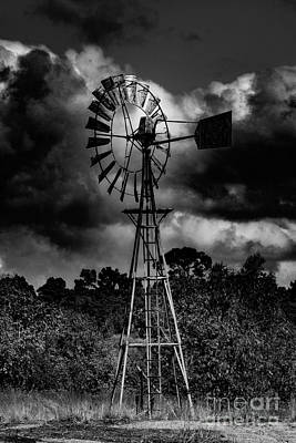 Country Windmill Art Print by Naomi Burgess
