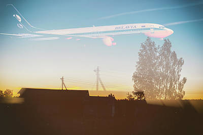 Sunset Digital Art - Countryside Boeing by Victor Grigoryev