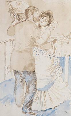 Pierre August Painting - Countryside Dance by Pierre Auguste Renoir