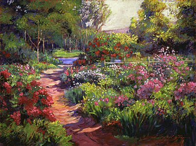 Countryside Gardens Art Print by David Lloyd Glover