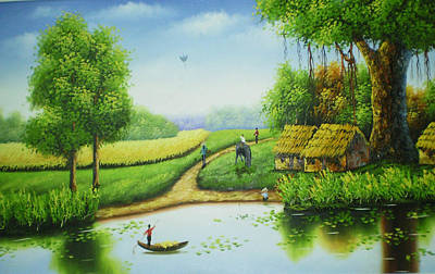 Countryside In My Eyes Art Print by An Pham
