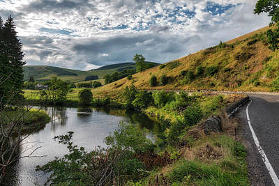 Photograph - Countryside In The Scottish Borders Area by Jeremy Lavender Photography