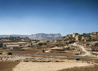 The Beatles - Countryside Landscape North Of Sanaa In Rural Yemen by JM Travel Photography