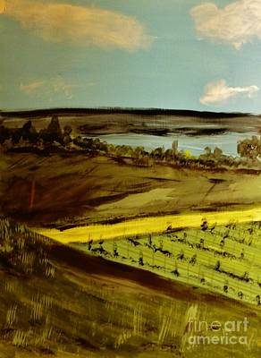 Painting - countryside/VINEYARD by Marie Bulger