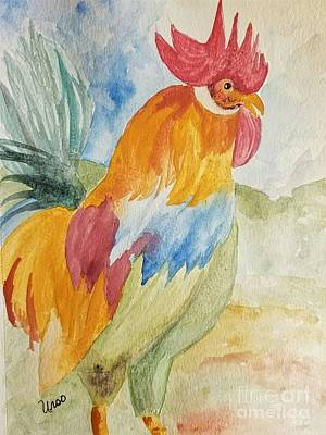 Painting - Countryside Rooster by Maria Urso