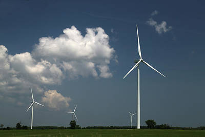 Photograph - Countryside Turbines by Mary Bedy