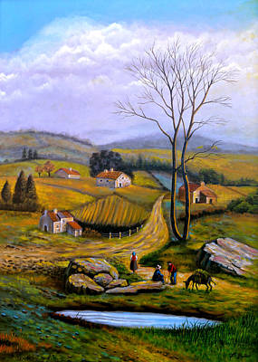 Painting - Countryside View by Tony Banos