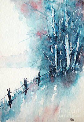 Painting - Countryside Winter by Rebecca Davis