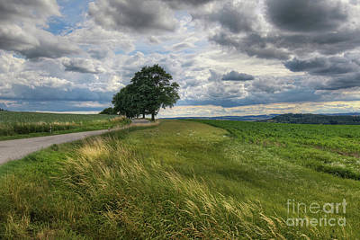 Photograph - Countryside With Dramatic Sky by Michal Boubin
