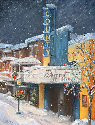 County Christmas Art Print