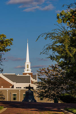 Photograph - County Courthouse Bell And Church Spire by Ed Gleichman