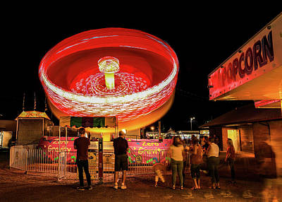 Photograph - County Fair Long Exposure by Dan Sproul