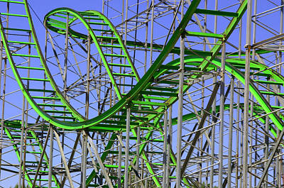 County Fair Thrill Ride Art Print by Joe Kozlowski