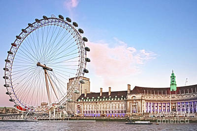 Photograph - County Hall And London Eye by Terri Waters