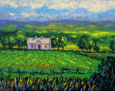 Irish Painting - County Wicklow Ireland by John  Nolan