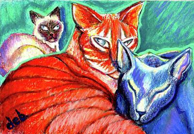 Pastel - Coup d'e Cat by Deborah jordan Sackett