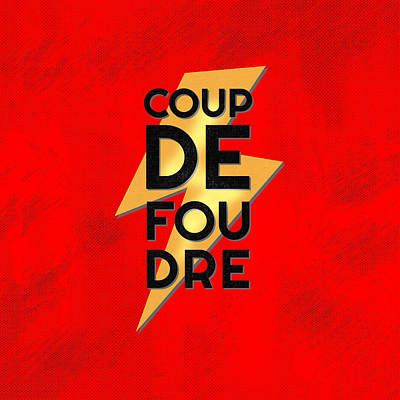 Coup De Foudre - Retro Red Art Print