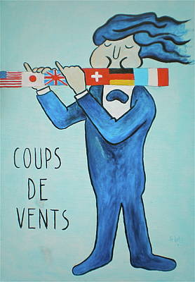 Painting - Coup De Vents by Sheep McTavish
