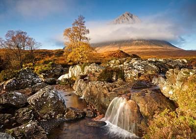 Photograph - Coupall Falls Glencoe by Stephen Taylor