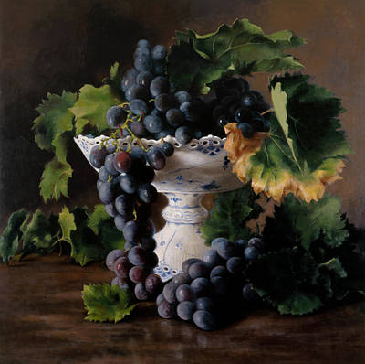 Bunch Of Grapes Painting - Coupe De Raisin by Kira Weber