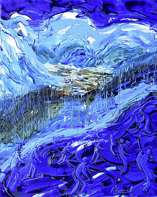 Painting - Coupe Du Monde Val D'isere II by Pete Caswell