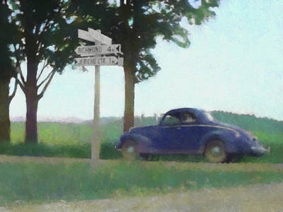 Digital Art - Coupe In The Countryside Dop by David King