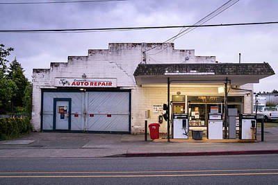 Photograph - Coupeville Auto Repair At Dawn by Mary Lee Dereske