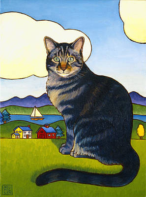 Painting - Coupeville Cat by Stacey Neumiller