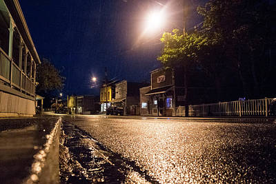 Photograph - Coupeville On A Rainy Night by Mary Lee Dereske