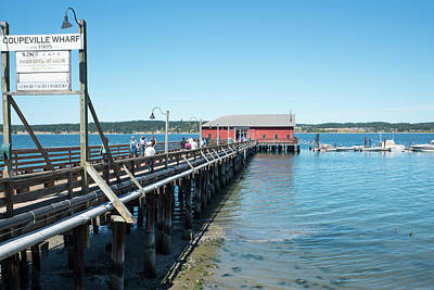 Photograph - Coupeville Wharf Est.1905 by Tom Cochran