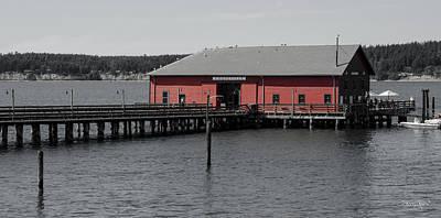 Photograph - Coupeville Wharf - Selective Color by Shanna Hyatt