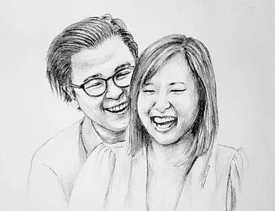 Drawing - Couple 51418 by Hae Kim