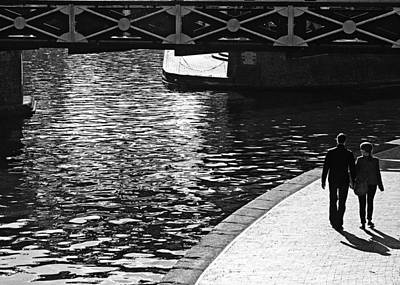 Photograph - Couple And Canal by Adrian Pym