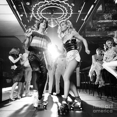 Couple At Roller Disco, C.1970-80s Art Print by H. Armstrong Roberts/ClassicStock