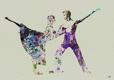 Woman Painting - Couple Dancing Ballet by Naxart Studio